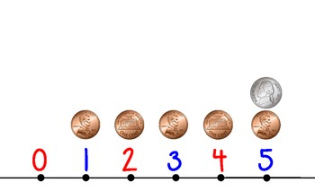 Condensed Number Line 0-120 with Money