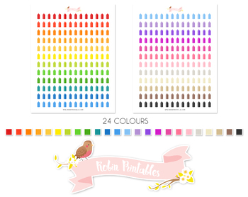 Condiment Printable Planner Stickers