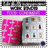 Condiment Work Tasks or File Folders