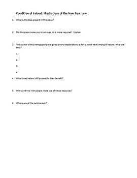 Condition of Ireland Questions and Answers