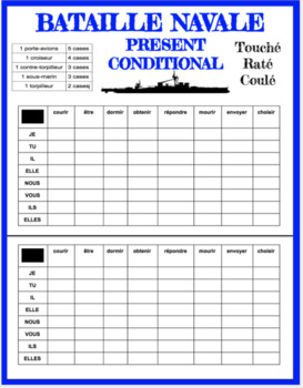 Conditional - Bataille Navale - French present conditional battleship game