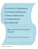 Conditional, Converse, Inverse, Contrapositive & Biconditi