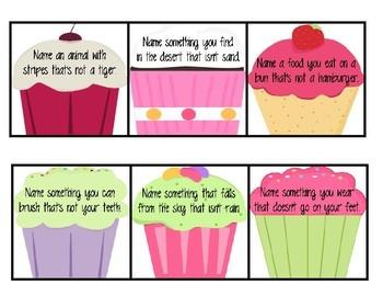 Conditional Naming Cupcakes