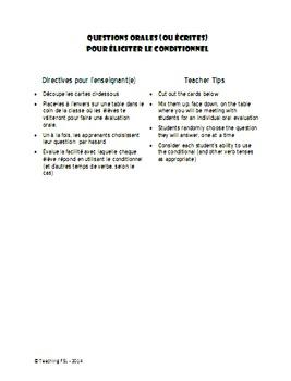 Conditional Package - Activités du conditionnel