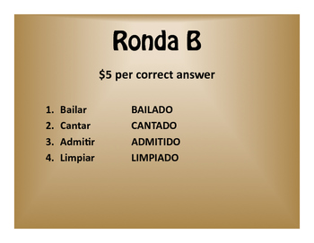 Spanish Conditional Perfect $1000 Pyramid Game