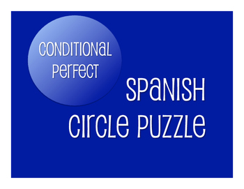 Spanish Conditional Perfect Circle Puzzle