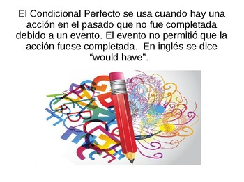Conditional Perfect PPT (Spanish) + worksheet