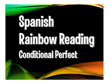 Spanish Conditional Perfect Rainbow Reading