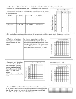 Conditional Probability Spring 2014 with Answer Key (Editable)