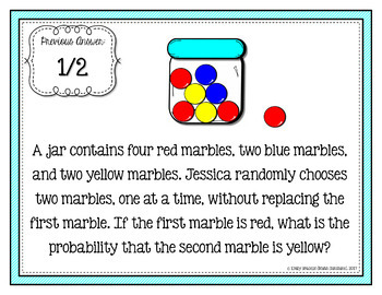 Conditional Probability Word Problems Scavenger Hunt Activity