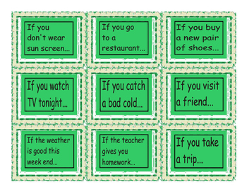 Conditional Sentences Type 0 & 1 Cards