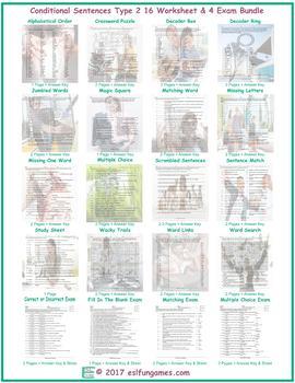 Conditional Sentences Type 2 16 Worksheet- 4 Exam Bundle