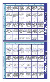 Conditional Sentences Type 2 Battleship Board Game