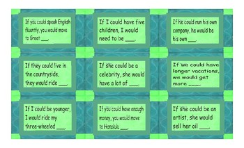 Conditional Sentences Type 2 Cards