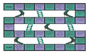Conditional Sentences Type 2 Legal Size Text Chutes and Ladders Game