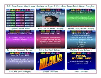 Conditional Sentences Type 2 Jeopardy PowerPoint Game