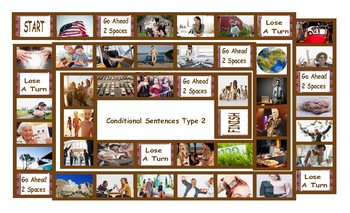 Conditional Sentences Type 2 Legal Size Photo Board Game