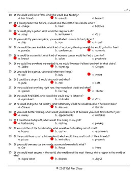 Conditional Sentences Type 2 Multiple Choice Exam