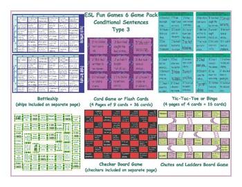 Conditional Sentences Type 3 6 Board Game Bundle