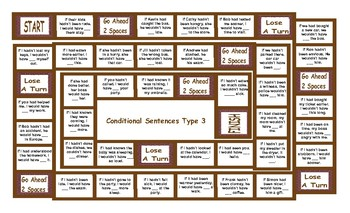 Conditional Sentences Type 3 Board Game
