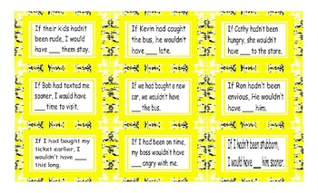 Conditional Sentences Type 3 Cards