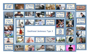Conditional Sentences Type 3 Legal Size Photo Board Game