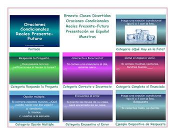 Conditional Sentences Types 0 & 1 Spanish PowerPoint Presentation