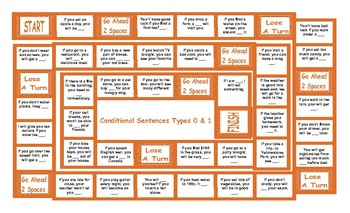 Conditional Sentences Types 0 and 1 Board Game