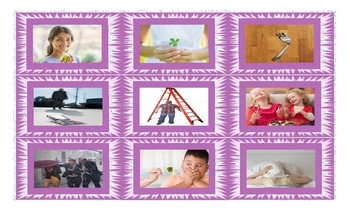 Conditional Sentences Types 0 and 1 Legal Size Photo Card Game