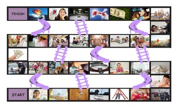 Conditional Sentences Types 0 and 1 Legal Size Photo Chutes and Ladders Game