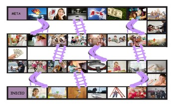 Conditional Sentences Types 0 and 1 Spanish Legal Size Photo Chutes Game