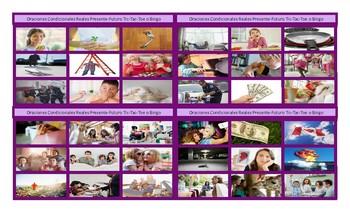 Conditional Sentences Types 0 and 1 Spanish Legal Size Photo TTT-Bingo Game