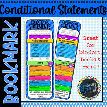 Conditional Statement Bookmark; Resource Tool, Converse, Inverse, Contrapositive