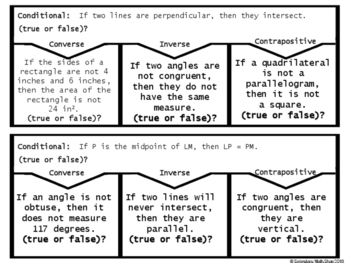 Conditional Statements (All Four Types) Cut, Paste, Solve, Match Puzzle Act.