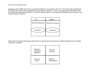 Conditional Statements Bible Verse Activity