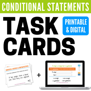 Conditional Statements (Converses, Inverses, & Contrapositives) Task Cards