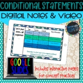 Conditional Statements Digital Notes; Distance Learning, G