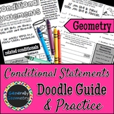 Conditional Statements Doodle Guide & Practice Worksheet, Geometry