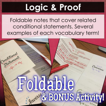 Conditional Statements Foldable and BONUS Activity