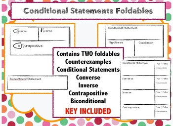 Conditional Statements Foldables