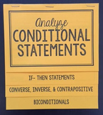 Conditional Statements (Geometry Foldable)
