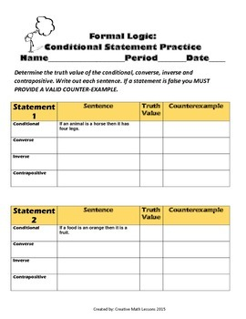 Geometry: Conditional Statements III - Converse, Inverse, Contrapositives