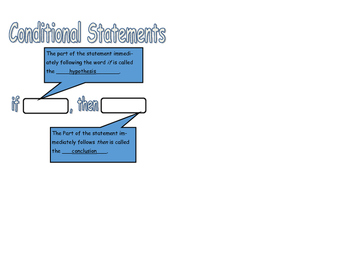 Conditional Statements ISN Cutout