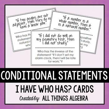 Conditional Statements (Inverse, Converse, Contrapositive)