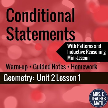 Conditional Statements Lesson
