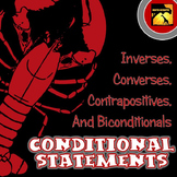 Conditional Statements Practice Chart: Inverse, Converse, and Contrapositive