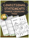 Conditional Statements ~ Zombie Coloring Page