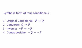 Conditional Statements and Forms of a Conditional Statement