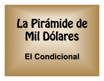 Spanish Conditional Tense $1000 Pyramid Game