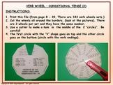 Conditional Tense (2). Verb Conjugation. Verb Wheels. PDF Document.